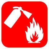 Logotipo da segurança do incêndio Fotografia de Stock