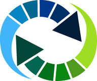 Logotipo da seta Imagem de Stock