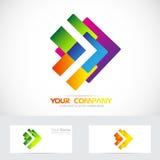 Logotipo da seta Fotos de Stock Royalty Free