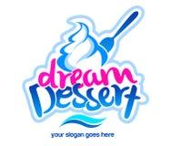 Logotipo da sobremesa Foto de Stock