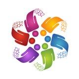 Logotipo da sustentação dos trabalhos de equipa Fotos de Stock Royalty Free
