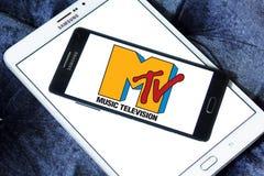 Logotipo da televisão da música do Mtv Imagens de Stock
