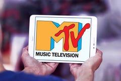Logotipo da televisão da música do Mtv Foto de Stock
