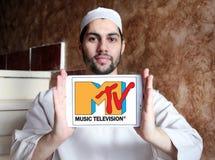 Logotipo da televisão da música do Mtv Fotos de Stock
