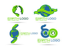 Logotipo da terra de Eco Fotografia de Stock