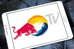 Logotipo da tevê de Red Bull Imagens de Stock Royalty Free