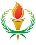 Logotipo da tocha da chama ilustração royalty free