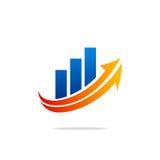 Logotipo da troca da finança do negócio Foto de Stock