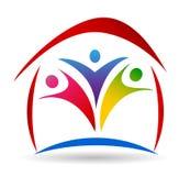 Logotipo da união da casa e da família Imagem de Stock