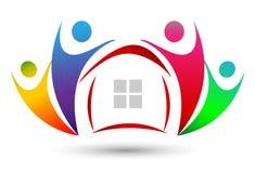 Logotipo da união da casa da família Imagem de Stock Royalty Free