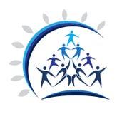 Logotipo da união dos povos Imagem de Stock Royalty Free