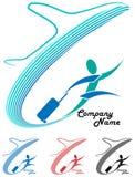 Logotipo da viagem aérea ilustração stock