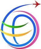 Logotipo da viagem aérea Fotos de Stock Royalty Free