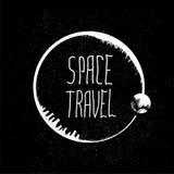 Logotipo da viagem espacial ilustração do vetor