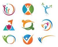 Logotipo da vida da saúde Fotos de Stock