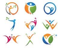 Logotipo da vida da saúde Fotografia de Stock Royalty Free