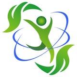 Logotipo da vida saudável e natural Fotos de Stock Royalty Free