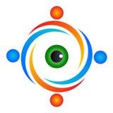 Logotipo da visão dos povos Foto de Stock