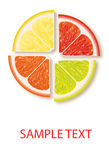 Logotipo da vitamina Imagem de Stock Royalty Free