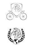 Logotipo da zebra Fotos de Stock Royalty Free