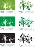 Logotipo das árvores de floresta Fotografia de Stock