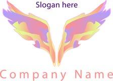 Logotipo das asas Fotografia de Stock