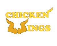 Logotipo das asas de galinha Imagens de Stock Royalty Free