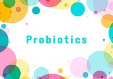 Logotipo das bactérias de Probiotics ilustração stock