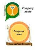 Logotipo das barras e dos restaurantes Fotografia de Stock