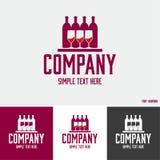 Logotipo das bebidas alcoólicas Fotos de Stock