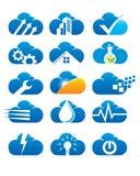 Logotipo das compilações da nuvem Foto de Stock