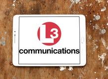 Logotipo das comunicações L3 Imagem de Stock Royalty Free