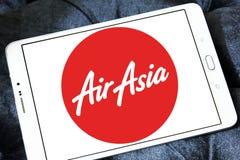 Logotipo das linhas aéreas de Air Asia Fotografia de Stock Royalty Free