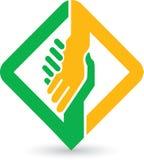 Logotipo das mãos amiga Fotografia de Stock Royalty Free