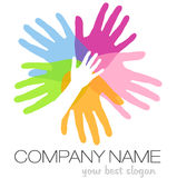 Logotipo das mãos Fotos de Stock Royalty Free
