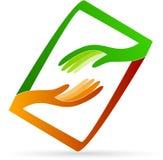 Logotipo das mãos amiga Foto de Stock