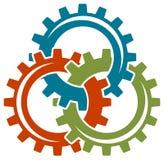 Logotipo das rodas de engrenagem Fotografia de Stock Royalty Free
