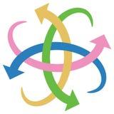 Logotipo das setas ilustração stock