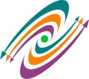 Logotipo das setas ilustração do vetor