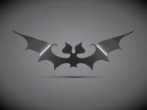 Logotipo de aço de Dia das Bruxas do bastão Fotografia de Stock Royalty Free