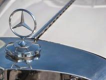 Logotipo de aço de Mercedes Benz Imagem de Stock