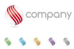 Logotipo de Abstrato Esfera Símbolo Empresa Fotos de Stock Royalty Free
