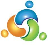 Logotipo de ajuda dos trabalhos de equipa ilustração do vetor