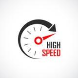 Logotipo de alta velocidade do vetor Imagem de Stock