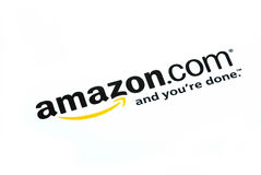 Logotipo de Amazon.com fotos de stock royalty free