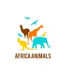 Logotipo de animales africanos Fotografía de archivo