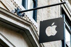 Logotipo de Apple Company imágenes de archivo libres de regalías