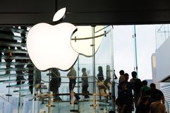 Logotipo de Apple Inc Fotografia de Stock