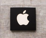 Logotipo de Apple Store Fotografía de archivo libre de regalías
