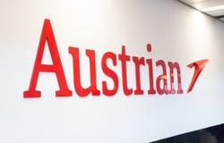 Logotipo de Austrian Airlines imagens de stock